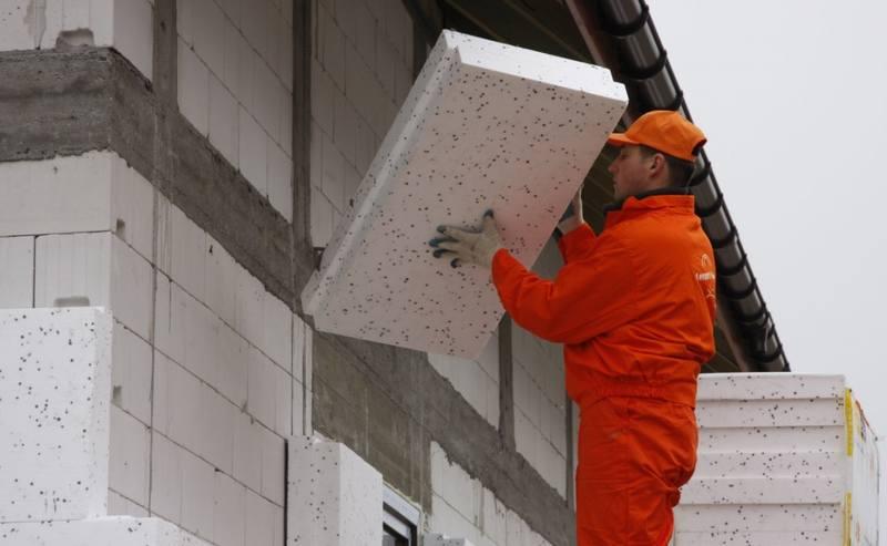Утепление фасада дома пенопластом и минватой во Львове